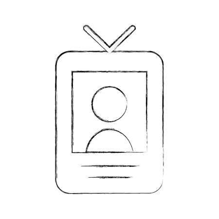 Locator person signal icon vector illustration design fuzzy