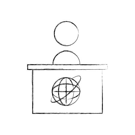 Living room television news icon vector illustration design fuzzy Ilustrace