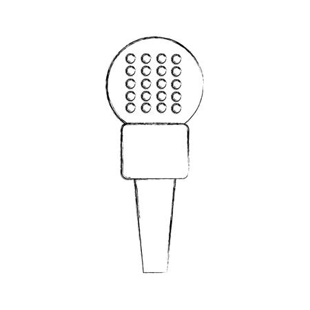 Profesional micrófono transmitir iconos ilustración vectorial diseño difuso Foto de archivo - 81126149