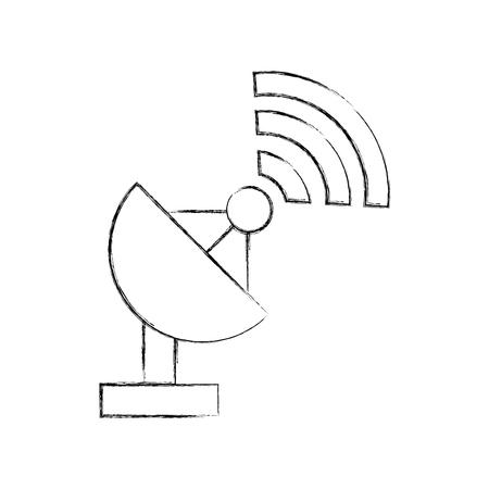 World signal antenna icon vector illustration design fuzzy