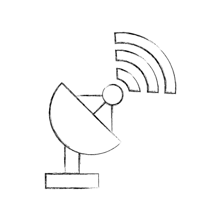 World signal antenna icon vector illustration design fuzzy