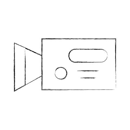 Professionelle Aufnahme Kamera Symbol Vektor-Illustration Design Fuzzy Standard-Bild - 81126141