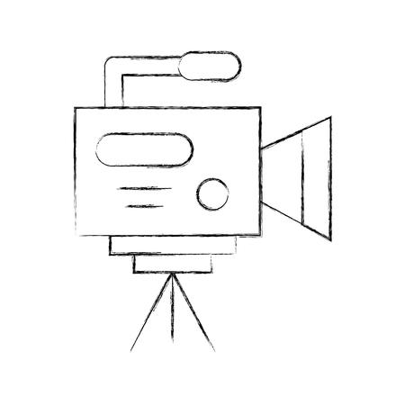 Professional recording camera icon vector illustration design fuzzy Ilustrace