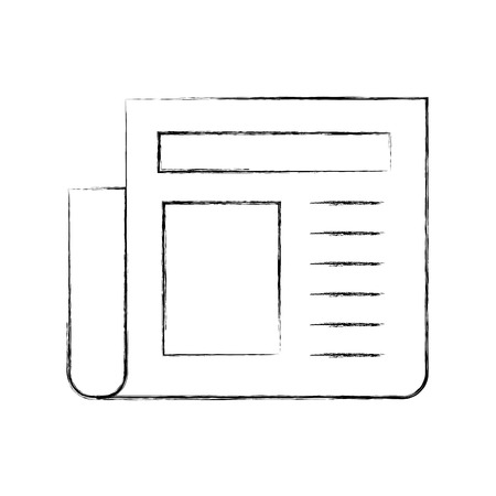Nieuws papier nieuws pictogram vector illustratie ontwerp fuzzy