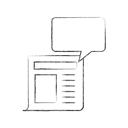 News paper news icon vector illustration design fuzzy