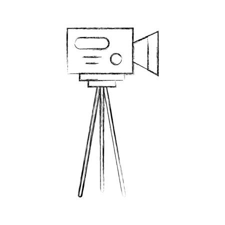 Professionelle Aufnahme Kamera Symbol Vektor-Illustration Design Fuzzy Standard-Bild - 81126162