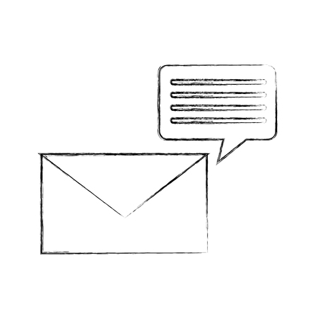 Information mail messages icon vector illustration design fuzzy Ilustrace