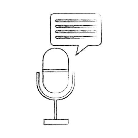 Professional microphone transmit icon vector illustration design fuzzy Ilustração