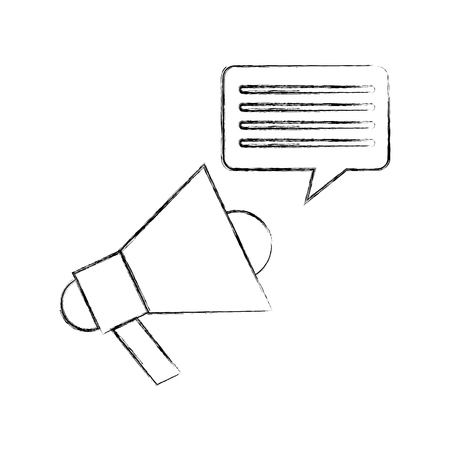 Megaphone talk person icon vector illustration design fuzzy Illustration