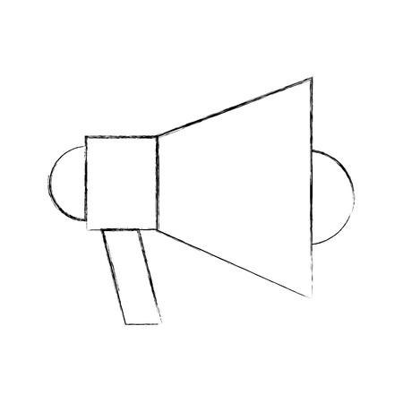Megaphone talk person icon vector illustration design fuzzy Ilustrace