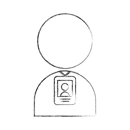 Progettazione dell'illustrazione di vettore dell'icona del segnale della persona di localizzatore sfocata Archivio Fotografico - 81126196