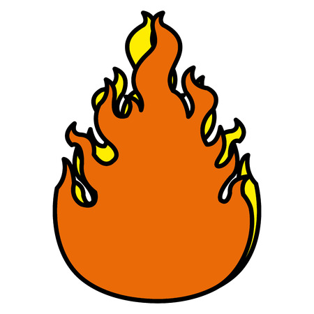 Campfire flame isolated icon vector illustration design 向量圖像