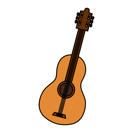 Guitar instrument isolated icon vector illustration design