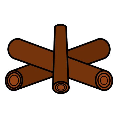 ignite: Campfire off isolated icon vector illustration design