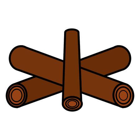 Campfire off isolated icon vector illustration design