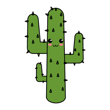 Natural cactus character vector illustration design Illustration