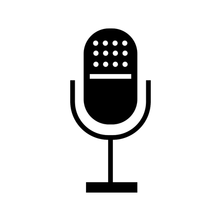 Professional microphone transmit icon vector illustration design isolated
