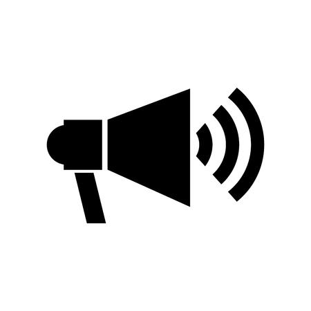 Megaphone talk person icon vector illustration design isolated Illustration