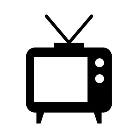 Groot oud vector de illustratieontwerp van het televisiepictogram geïsoleerd Vector Illustratie