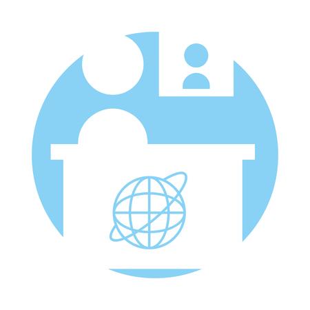Living room television news icon vector illustration design graphic
