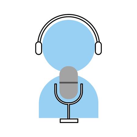 Professional microphone transmit icon vector illustration design graphic Illustration