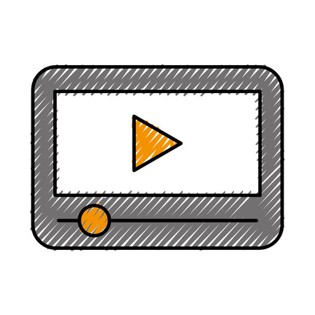 touchpad: Tablet internet connection icon vector illustration design doodle