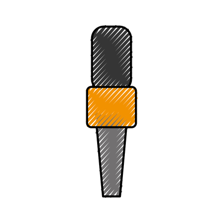 Professional microphone transmit icon vector illustration design doodle