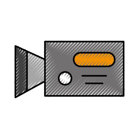 Professional recording camera icon vector illustration design doodle Ilustração