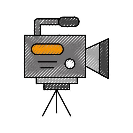 Professional recording camera icon vector illustration design doodle Illustration