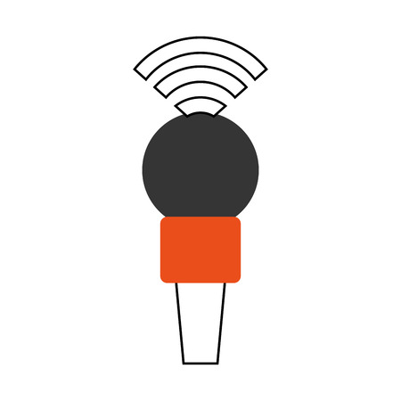 Professional microphone transmit icon vector illustration design graphic Çizim