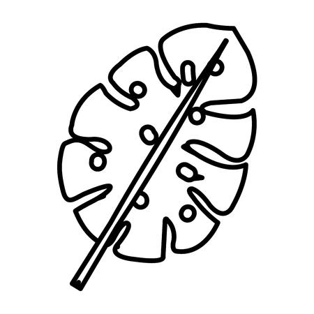 tropical leafs decorative icon vector illustration design Illustration