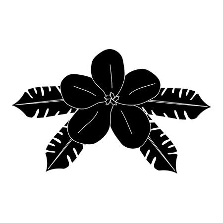 tropical flower decorative icon vector illustration design Ilustração
