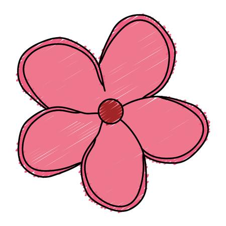 tropical flower decorative icon vector illustration design Çizim