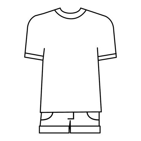 Casual and youth male clothing vector illustration design
