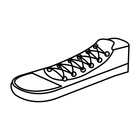 young shoes style icon vector illustration design Stock Photo