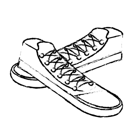 young shoes style icon vector illustration design Stok Fotoğraf - 81136304