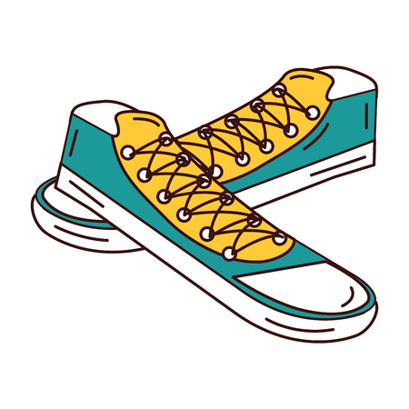 young shoes style icon vector illustration design Illustration