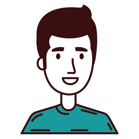 young man model avatar character vector illustration design