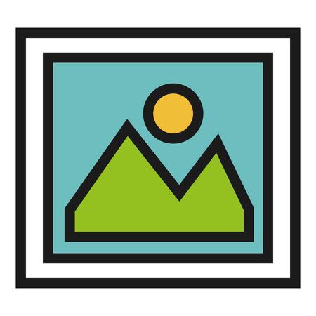 photo album: picture file isolated icon vector illustration design Illustration
