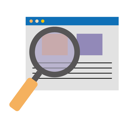 search magnifying glass with template vector illustration design