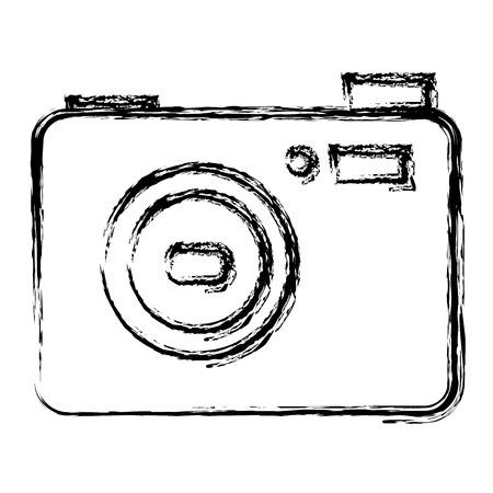 카메라 사진 절연 아이콘 벡터 일러스트 디자인