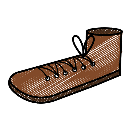grandfather shoe isolated icon vector illustration design