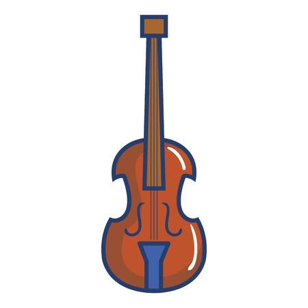 Illustrazione vettoriale illustrazione icona strumento musicale violoncello Archivio Fotografico - 81138051