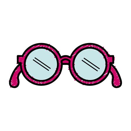 grandparents eye glasses icon vector illustration design Illustration