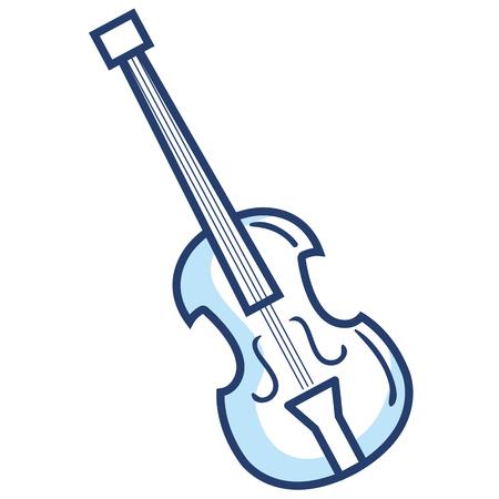 Violoncelle instrument de musique icône illustration vectorielle conception Banque d'images - 81138123
