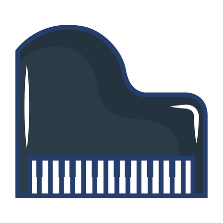 grand piano instrument musical vector illustration design Иллюстрация