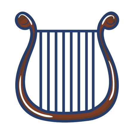 Instrument de musique harpe icône illustration vectorielle design Banque d'images - 81138144