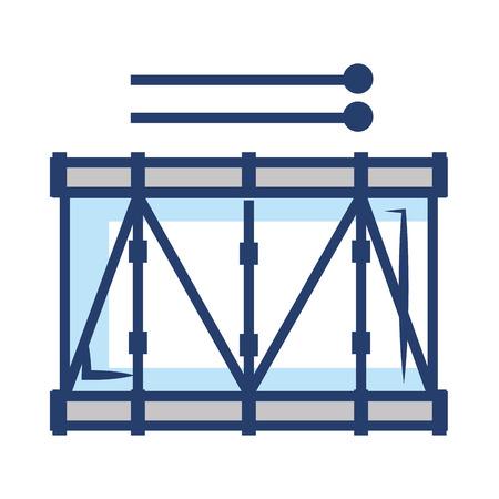 band drum musical instrument vector illustration design Illustration