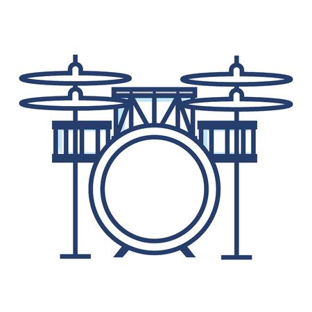 バッテリー ドラム楽器ベクトル イラスト デザイン