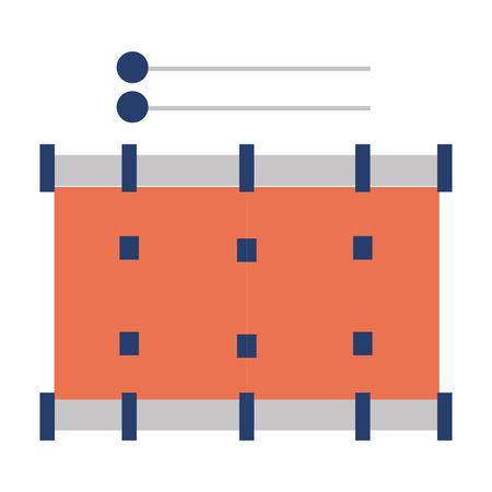 band drum musical instrument vector illustration design Stock Photo